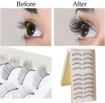 Natural Long Eyelashes eye lashes pair Fashion Beauty Makeup