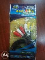 1.8mts AV cable for your TV and Decoder