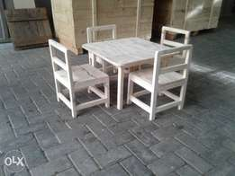 table and chair set wooden