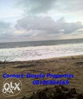 Beach front land with C of O for sale