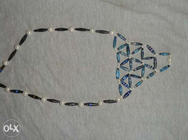 Paper bead and pearl necklace Kasarani - image 5