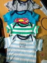 4pack navy blue neck printed baby boy jumpsuits (3-6)