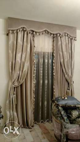 All kinds of curtains indoors and outdoors تفصيل جميع انواع البرادي من