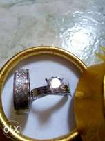 textured silver wedding rings