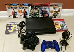 Sony ps3 10 games chipped and a pad