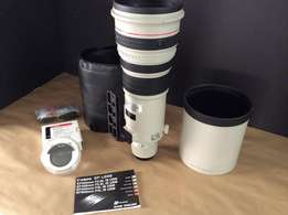 Canon EF 500mm f/4 L IS USM Lens- Mint Condition, Includes Locking Cas