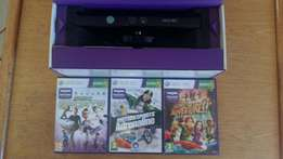 Xbox 360 kinect with 3 games