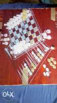 Uk used Crystal Glass chess game