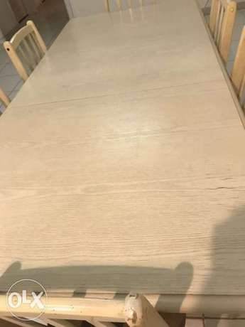 6-seat foldable dining table جدة -  2