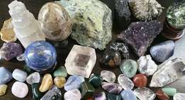Crystal and gem stone collection