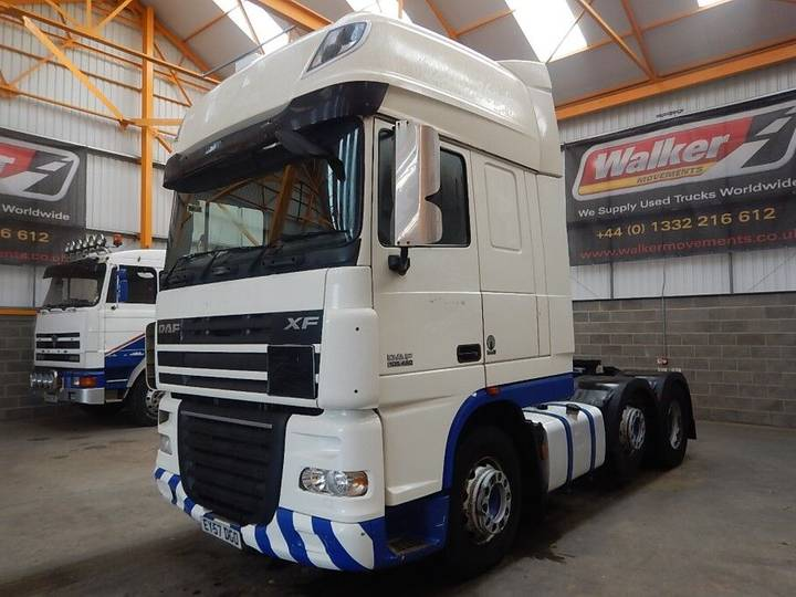 DAF XF105 460 SUPERSPACE CAB 6 X 2 TRACTOR UNIT - 2007 - EY57 - 2007