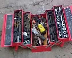 Four sets of assorted tools