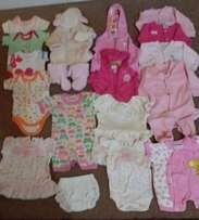 New born Clothes - Girls 36 Items all for R460