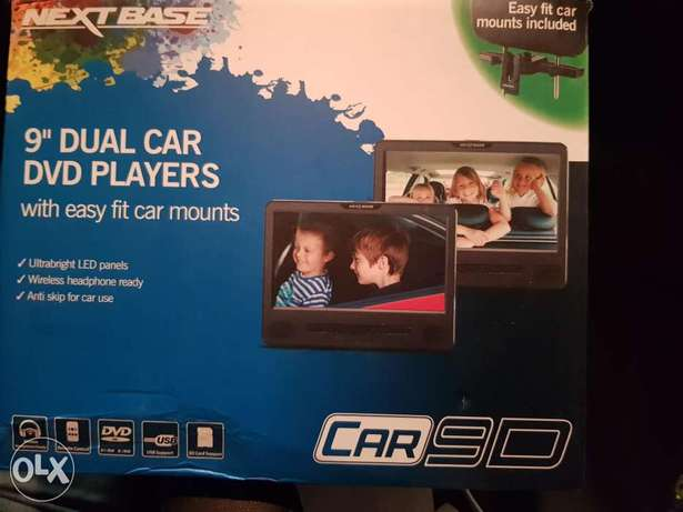 """Nextbase Portable 9"""" Dual In-car Read Seat Headrest DVD Player"""
