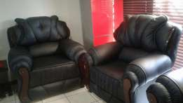 4 piece black couches