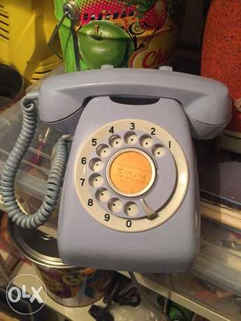 vintage light blue phone