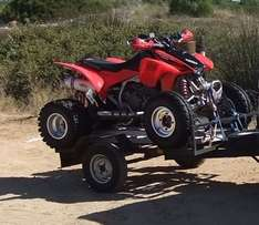 Honda 450R quadbike 2007 - good condition with trailer