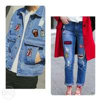 Patches for clothing In denim jackets and trousers,tshirt,boyfriend jn