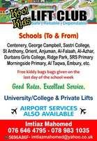 Koolkids liftclub to and from schools.Private and Airport transport to