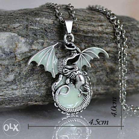 Game Of Thrones Luminous Dragon Chain Pendant Necklace Gothic Vintage Nairobi CBD - image 2