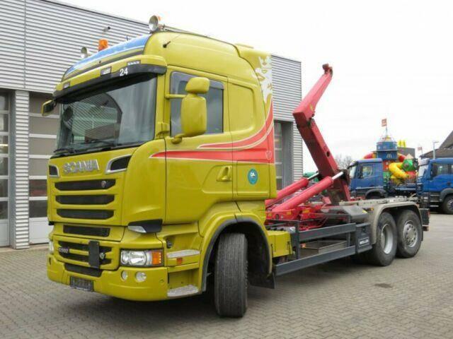 Scania R 560 6x2 Abrollkipper V8, Lenk+Lift - 2014