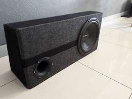 """Rockford Fosgate Prime 4 Channel Amp + Prime 12"""" Subwoofer and Box"""