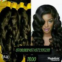 Semi human hair weave and lace wig with baby hair