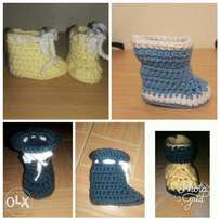 Customized Crochet Baby Boots