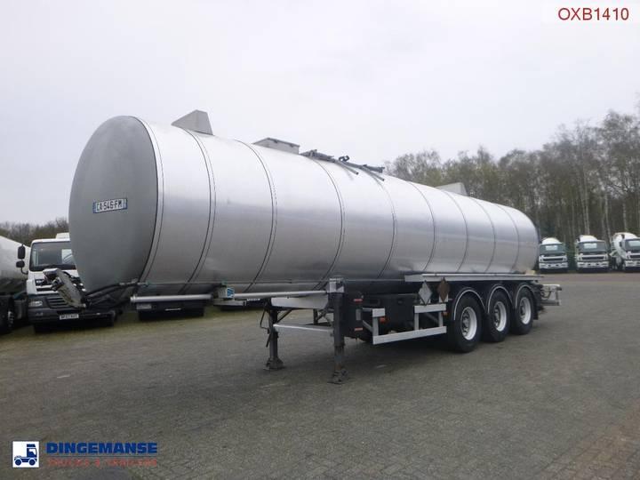 Netam-Fruehauf Bitumen / heavy oil tank inox 32.2 m3 / 1 comp / ADR 12/... - 2000