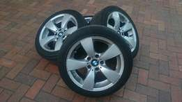 Complete set of BMW 17 inch rims and tires