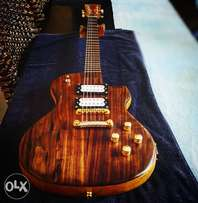 Custom built les paul stile guitar