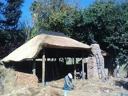 Valley thatch roofs and lapas