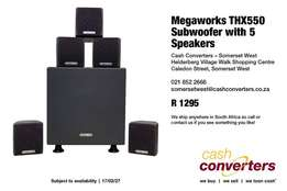 Megaworks THX550 Subwoofer with 5 Speakers