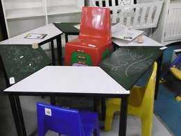 Kiddies white board & chalk board tables