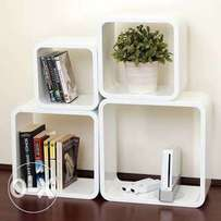 Large 4 pieces square floating wall cube