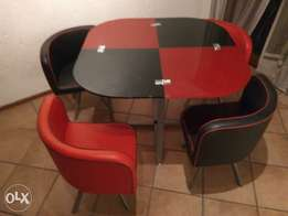 Red & Black 5 piece dining room table set