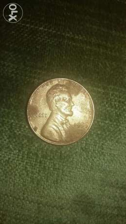 USA Lincolin Memorial First Mint Cent Coin year 1959سنت اميركي