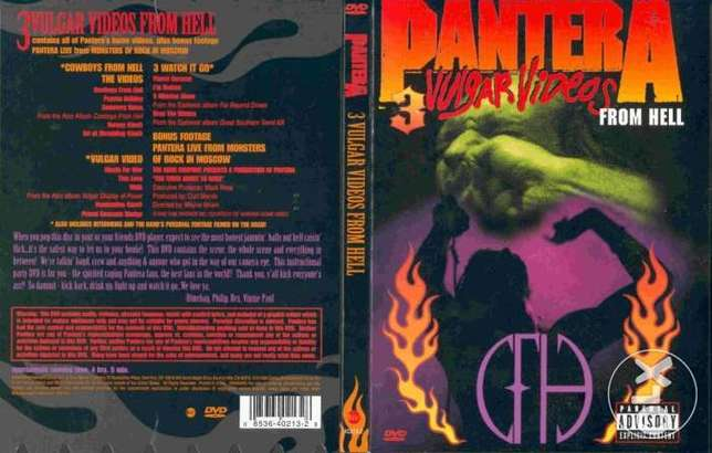 Pantera vulgar display videos dvd