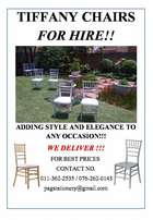 Tiffany chair hire!