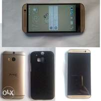 HTC ONE M8 upgraded with phone case and screenguard