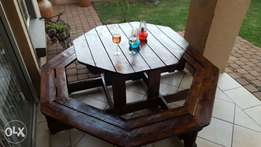 8 x seeter wooden bench for sale.