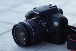 1300D Canon Camera With Lens