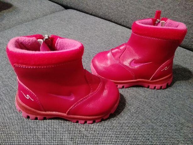 12aada62 Nowe! Skórzane, zimowe, nieprzemakalne butki Nike. Rozmiar 21. Warto ...