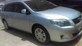 Toyota Fielder on sale at good price.with alloy rims and screen.