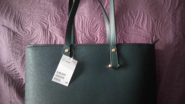 1b71cb5975b1d Nowa torba H&M szmaragdowa - Lubin - Sprzedam nową torbę H&M. Kolor  szmaragdowy. Wewnątrz