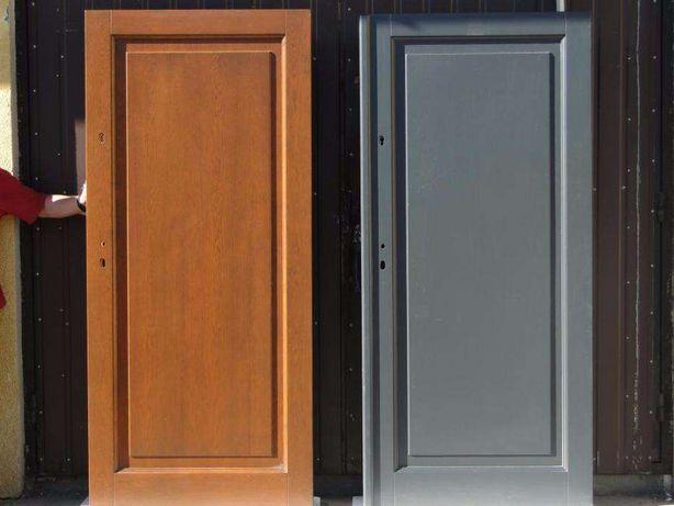Drzwi Zewnetrzne Drewniane Grubosc 7 5cm Od Reki Antracyt Grzybno