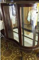 Antique Curved Glass Show Case