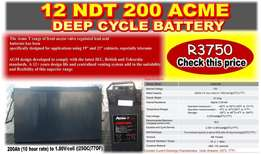 12 NDT 200 ACME Deep Cycle Battery for Sale