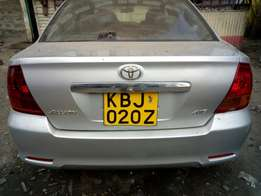 Clean Toyota Allion KBJ 020z .weell maintained car and privately used.