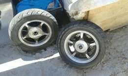 Scooter wheels set size 10s
